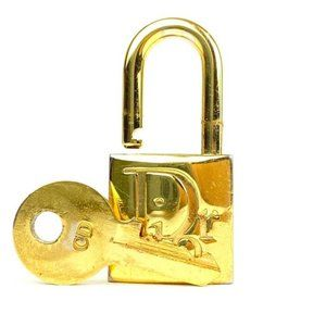 Dior  Ultra Rare Gold Cadena Padlock and Key Set